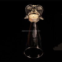 hand made fancy design blessing angel shape cheap tea light candle holder