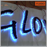 low power consumption led window displayed diy led backlit channel letter sign