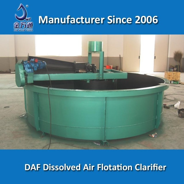 Circular dissolved air flotation for cosmetics industry wastewater treatment