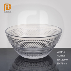 Wholesale Clear put in Strawberry /Fruits Glass around Beaded Bowl