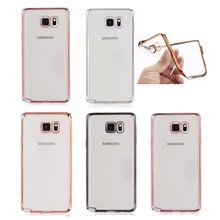 New design electroplating soft tpu back cover case for Samsung Note2,note3, note4