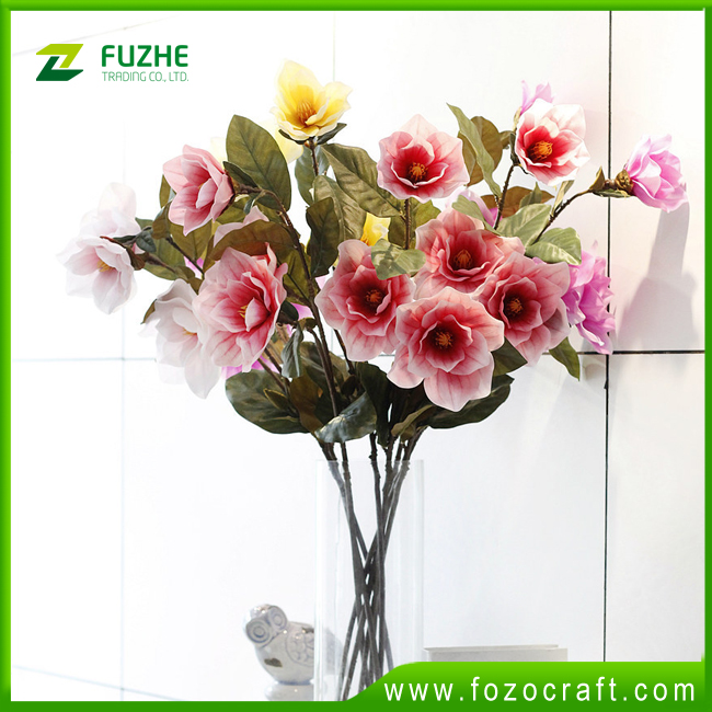 high quality wholesale silk flowers home decorating artificial magnolia flowers