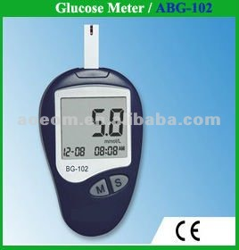 Automatic blood glucose monitor with 10 strips+lancet+lancing device