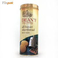 tall round cylinder cookie packaging tin