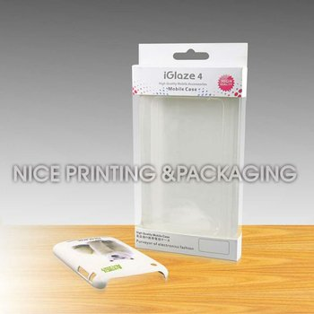 printed plastic packaging box for cell phone case