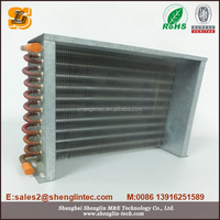 high quality copper tube aluminum fin heat exchanger components with OEM
