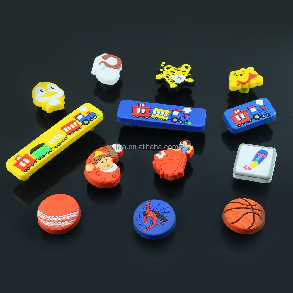 cartoon style furniture decorative rubber handle and knob