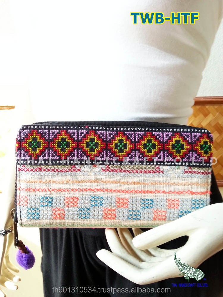 Embroidered HMONG HILL TRIBE Clutch Wallet Coin Money Bag Purse
