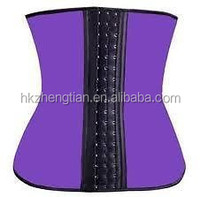 2015walson fat burn weight loss 2 material latex expose Sports body shaper butt lifter latex waist cinchers wholesale for wome