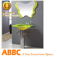 green glass bathroom sink made in Hangzhou cheap price off 20% AM-J020