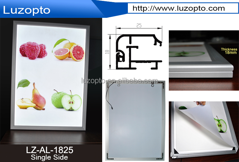 a1 led picture frames,illuminated led menu