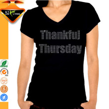 Thankful Thursday Thanksgiving tight fit short sleeve t-shirt for women