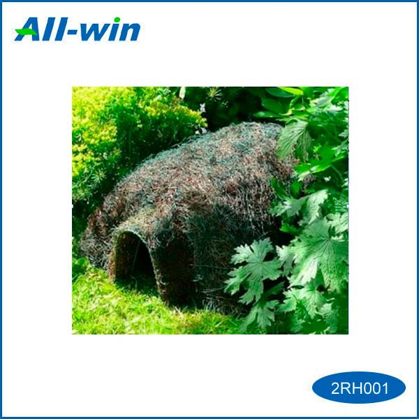 high quality cute pet house green world natural rattan hegehog house