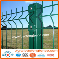 High Security Decorative Metal Welded Wire Mesh Galvanized PVC Coated Garden Fence Panel (Factory Exporter)