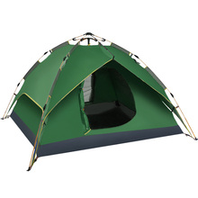 Wholesale Outdoor 3-4 Person Double layer instant Pop up Family UV Protection Hydraulic automatic Camping Tent
