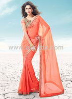 Bollywood Style Chiffon Fashion Sarees from latest movies collection
