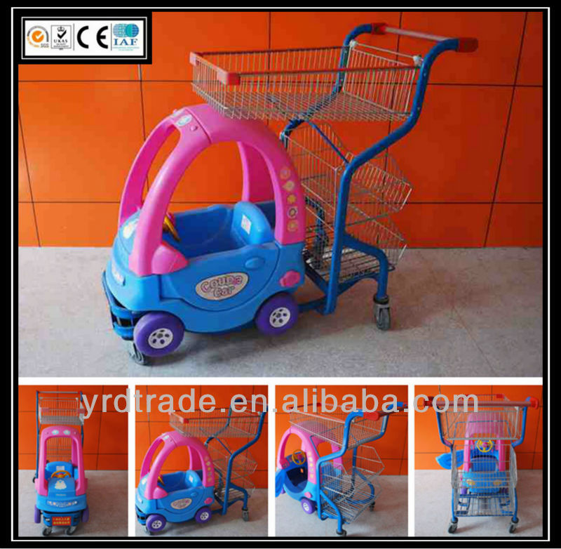 Colourful Child shopping carts / supermarket / grocery funny kids shopping trolley (YRD-E1)