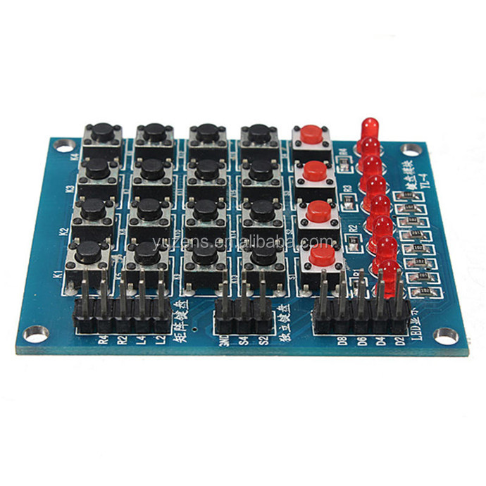 separate 8 LED 4x4 Push Buttons Matrix Keyboard FOR AVR ARM STM32