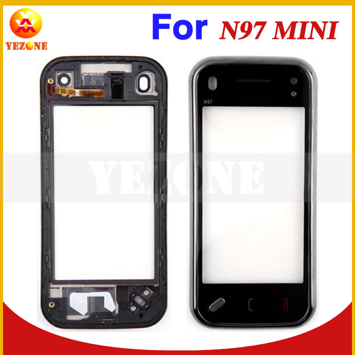 Black Color Original New Mobile Phone Front Panel Touch Digitizer Touch Screen Digitizer Replacement For Nokia N97 Mini