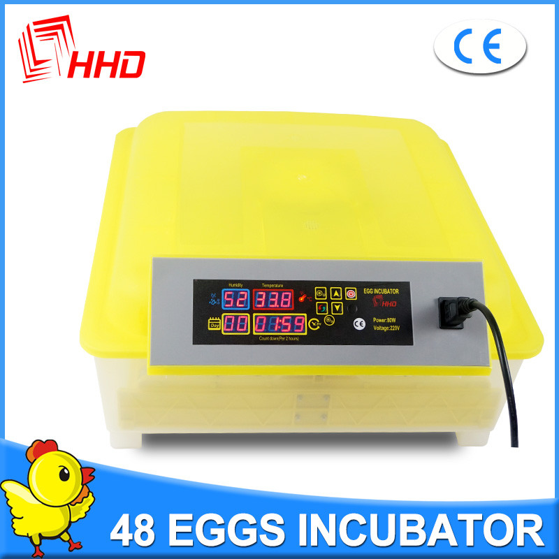 Clear 48 Egg Incubator Digital Temperature Control Hatcher Poultry Egg Brooder Automatic Egg Turning