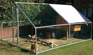 20x10Ft Chicken Run Walk in Coop Metal Cage For Poultry Rabbit Hen Dog House