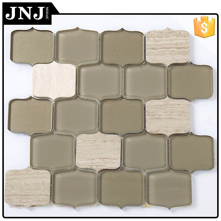 Natural Polished Wall Glass Mosaic Pakistani Home Decoration
