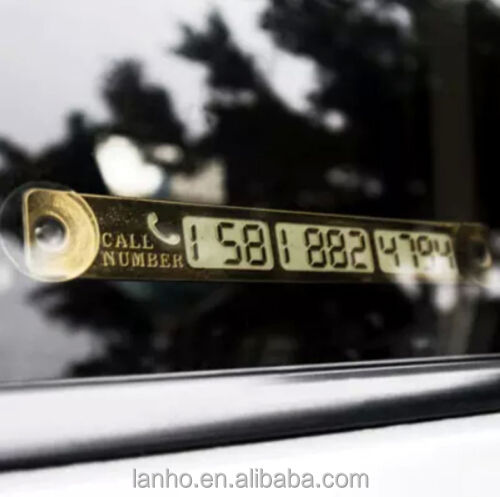 Car Telephone Number Light Sensor LED Parking Notification Accessories Gold New