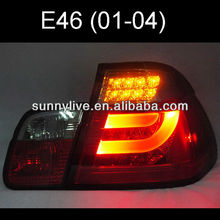 For BMW E46 3 Series 320 328 325 330CI LED Tail Lamp 2001 to 2005 year Red Black Color