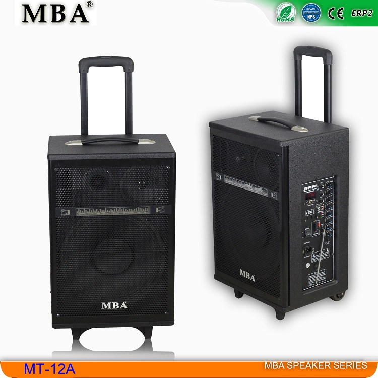 12V/12A Battery Dual DJ Party Portable Rechargeable Professional Trolley Bluetooth wooden Speakers with FM radio,USB,DVD,CD in
