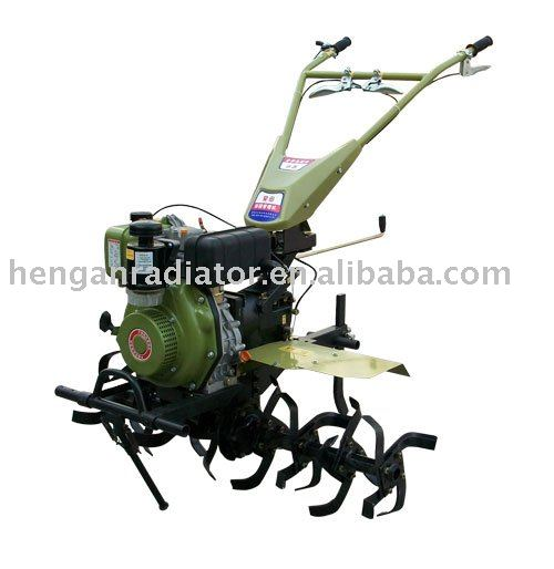 electric start 178f diesel engine Green mini power tiller