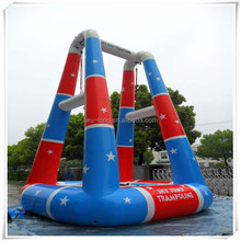 Hot sale PVC or TPU inflatable bungee jump/Inflatable trampoline for bungee games