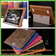 mobile phone accessories 2015 arm band custom made leather pouch case for ipad mini air