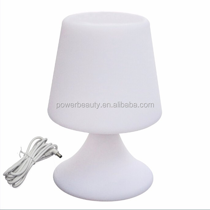 battery rechargeable wireless led color changing restaurant table lamp with touch sensor