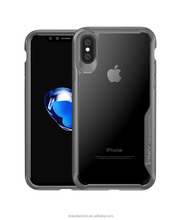 High quality Luxury Super Clear Anti-shocking PC case with TPU bumper cover case for iPhoneX