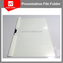 office document file holder a4 pp clear plastic report file cover folder with fastener