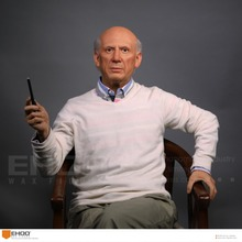 Celebrity Pablo Picasso Silicone Wax Statue Wax Figure for Sale