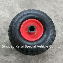 3.50-4 pneumatic rubber tire with roller bearing go cart tire 3.50-4
