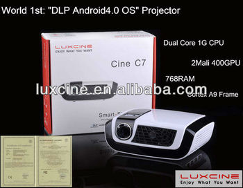 Smart Projectors !!! Hottes!!! world 1st 1080p android 4.0 airplay dlna projector, PS3.XBOX