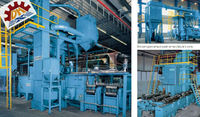 Strip steel / wire coil shotblasting machine CE, ISO9001 certified