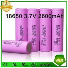 Samsung ICR 26jm 2600mah li-ion battery 3.7v rechargeable battery Cell 18650 For led flashlight e bike e scooter battery pack