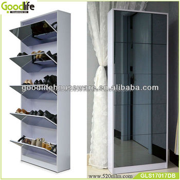 Alibaba china supplier mirror shoe storage with dressing mirror