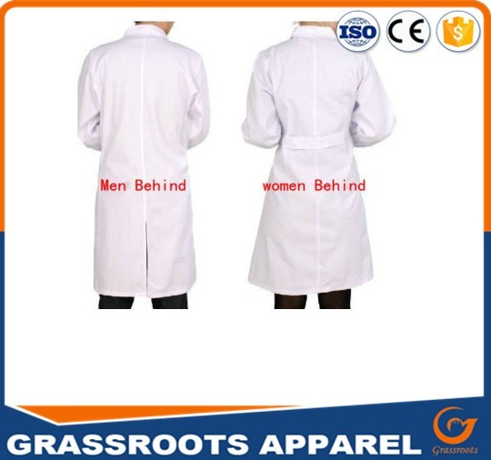 Custom logo design lab coat unisex solid Color nurse hospital medical uniforms lab coat designs