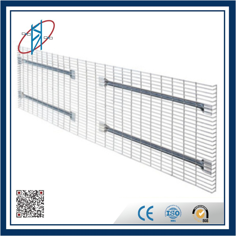 zinc finish steel mesh shelf wire deck for pallet rack
