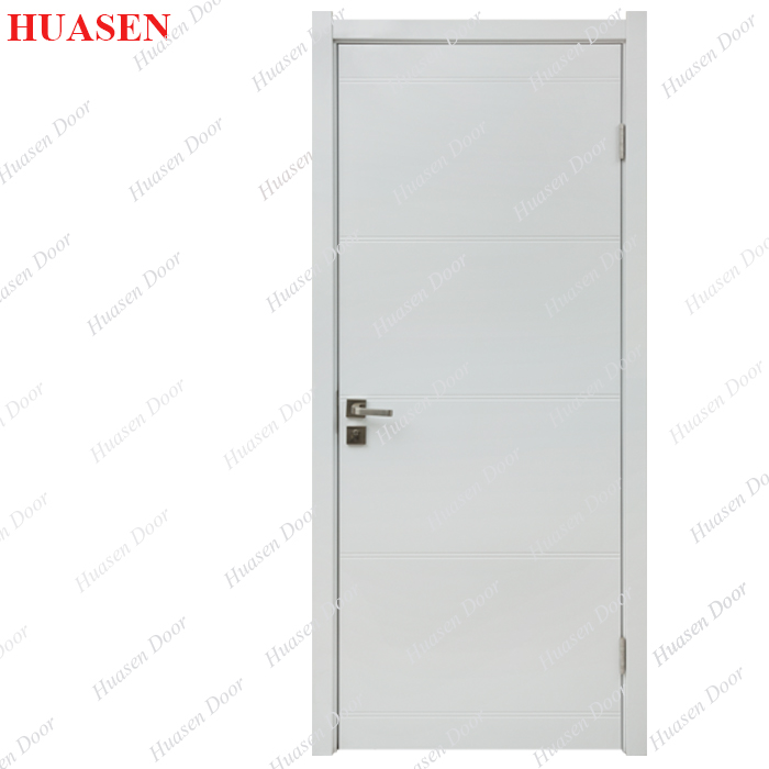 Plain white wooden bedroom door for sale