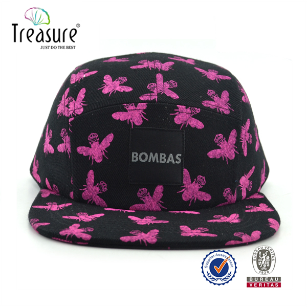 Grand Scheme Leopard 5 Panel Camp Cap Panther