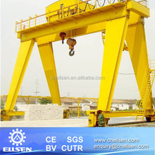 New MH Model Double Girder Workshop Gantry Crane 20 Ton