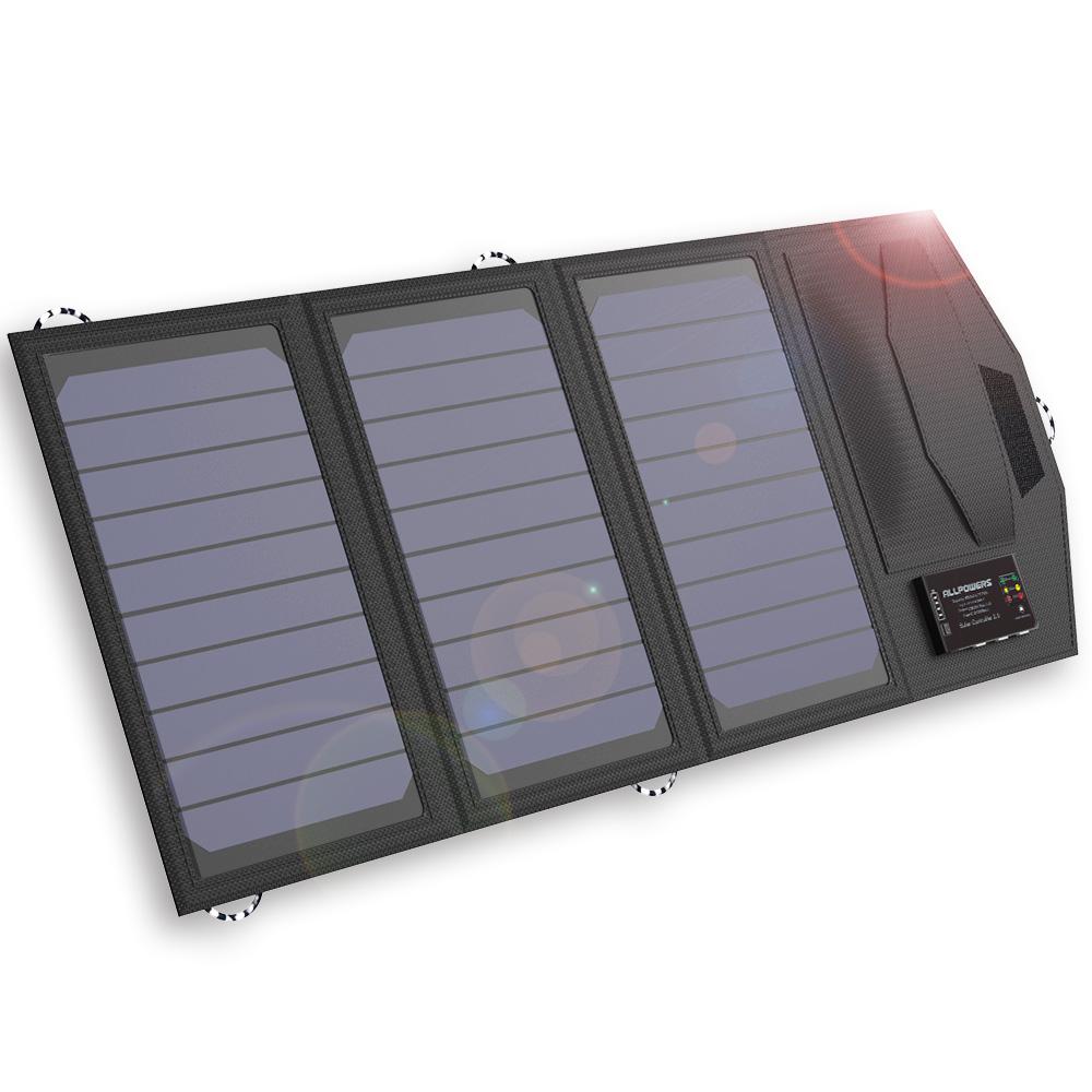 allpowers 15 watt solar panel ladeger t mit 6000 mah. Black Bedroom Furniture Sets. Home Design Ideas