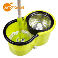 New design stainless steel basket cleaning floor mop