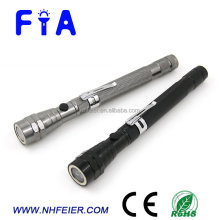 Telescopic aluminum LED flat magnetic flashlight for working and repairing