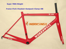Special discount !! Free Shipping !! 2016 WCB-R-066 Super light 780g paint Carbon road bike frame 48 51 54 56 58 cm